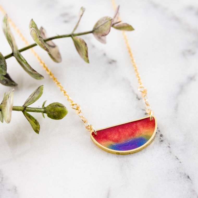 Mood Swings Necklace- Rainbow