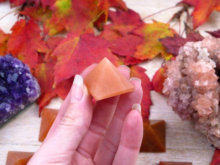 Jade Orange Pyramid