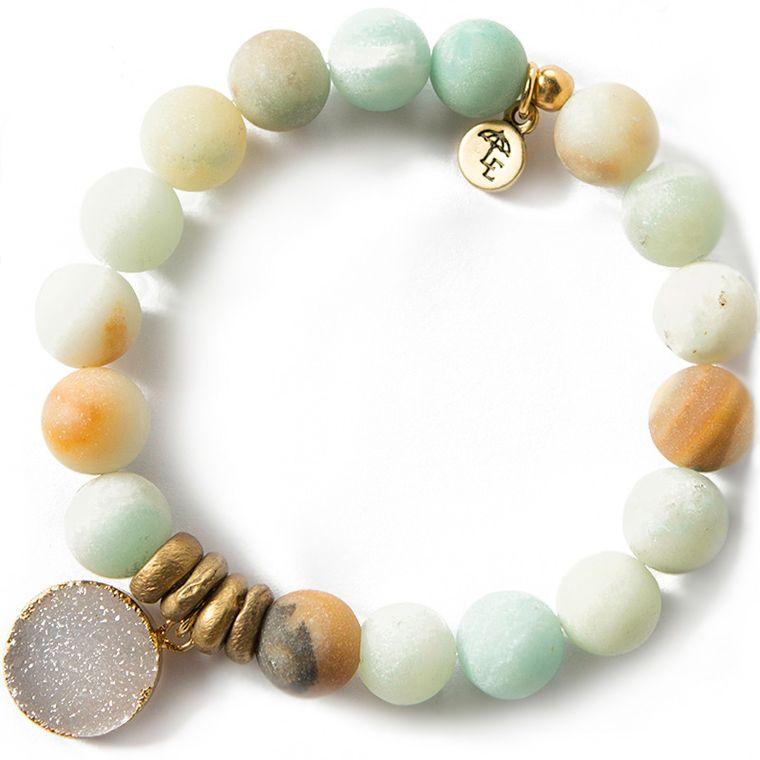 Gemstone Bracelet, Amazonite - 10mm