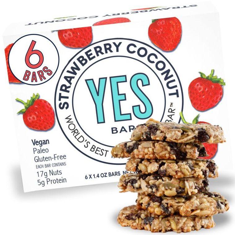 Strawberry Almond Coconut - (Vegan, Gluten-Free, Low Sugar) - World's Best Tasting Snack Bar®