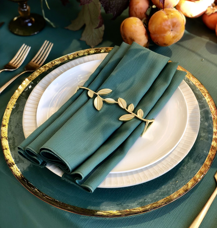 Leaf Napkin Wrap, Matte Gold Single