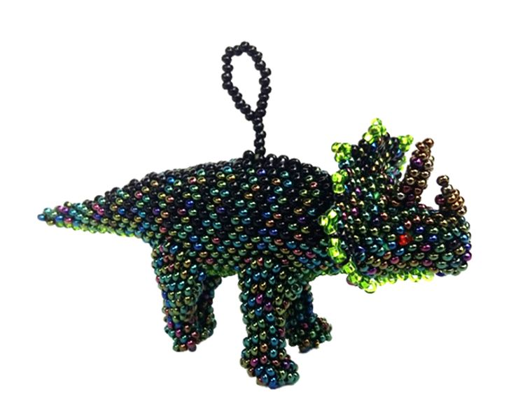 Triceratops Ornament (Green)