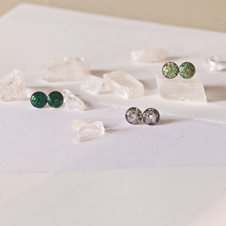 Medium 8mm Assortment Surgical Steel Post Earrings