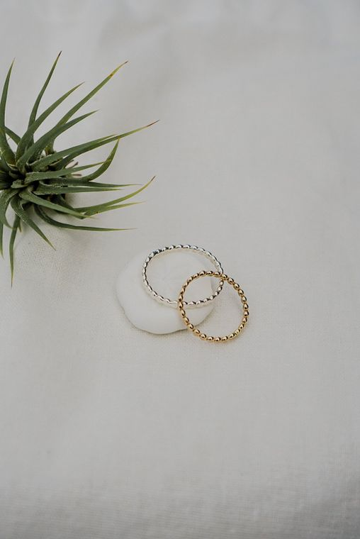 Dot Ring - Gold & Silver