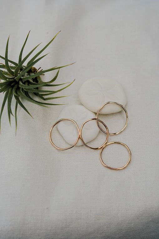 Hammered Ring - Gold & Silver