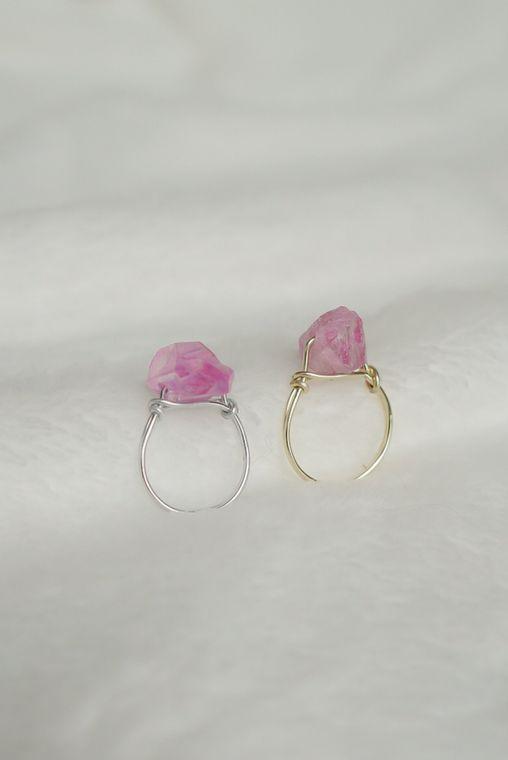 Lilac Quartz Wrapped Ring