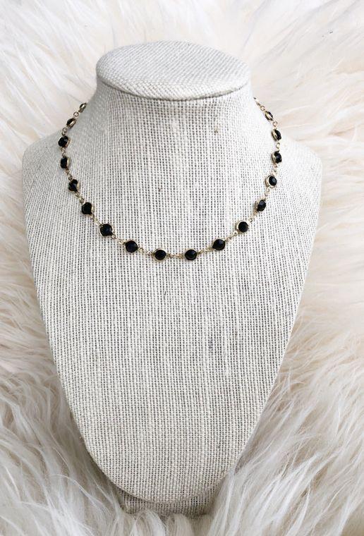 Black Cecelia Necklace
