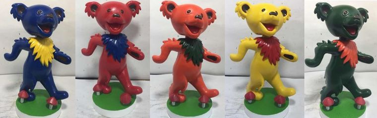 Grateful Dead Dancing Bears Bobbleheads
