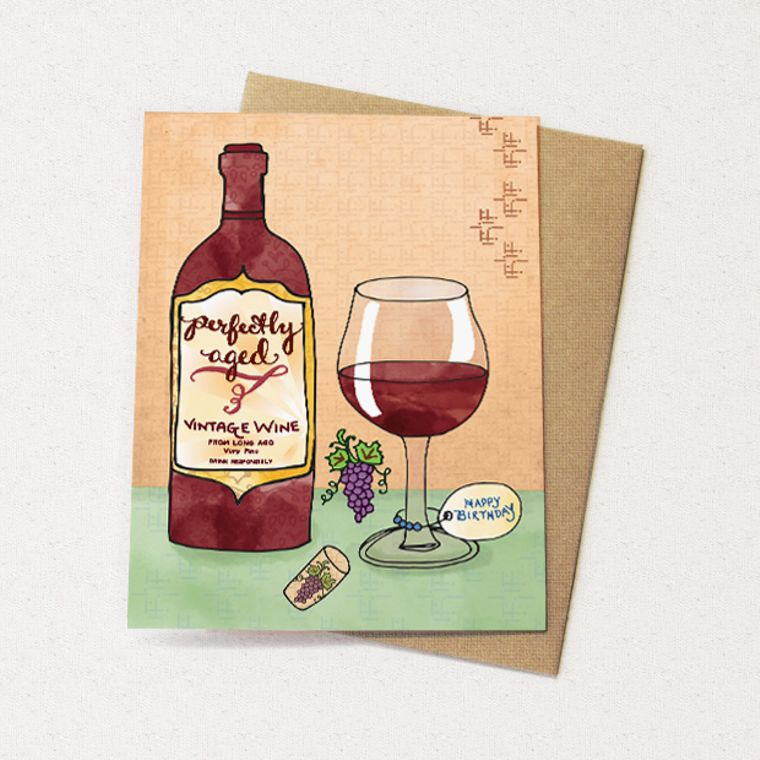 Wine Greeting Card - red wine, wine birthday greeting cards