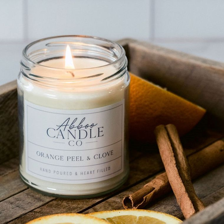 Orange Peel & Clove Soy Candle by Abboo Candle Co