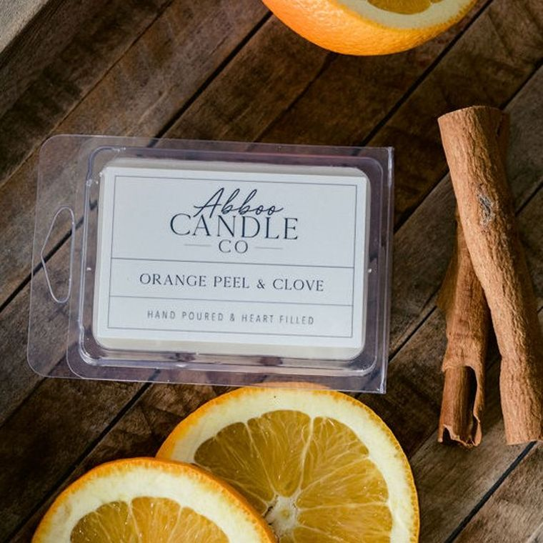 Orange Peel & Clove Soy Wax Melts by Abboo Candle Co
