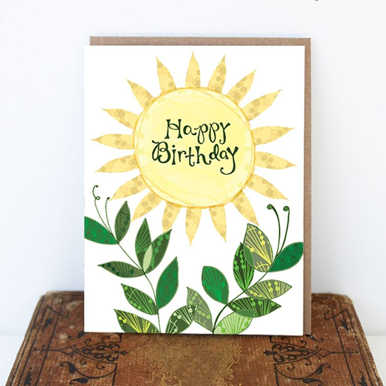 Sun Birthday Card - Sunny Day Card, Sun Card, Sunny Birthday Greeting Card, Paper goods