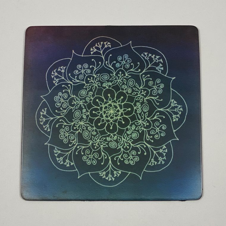 Blessed Rain Mandala Magnet - Square