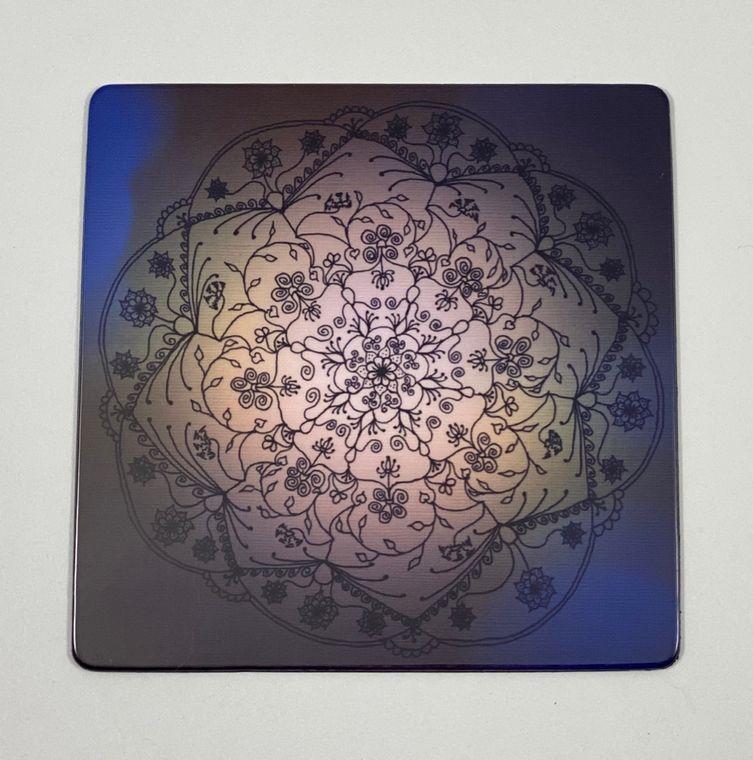 Dusk Mandala Magnet - Square