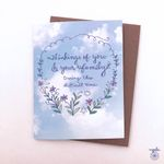 Sympathy Sky Card - sympathy family, difficult time, blank inside, sympathy card, with sympathy and love card
