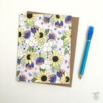 Home Sunflowers Notecards - Thank you cards - greeting cards, thank you flowers pattern