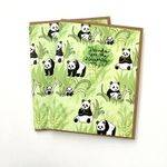 Panda Thank you cards - Thanks for the memories, thanks so much greeting cards, thank you panda bears