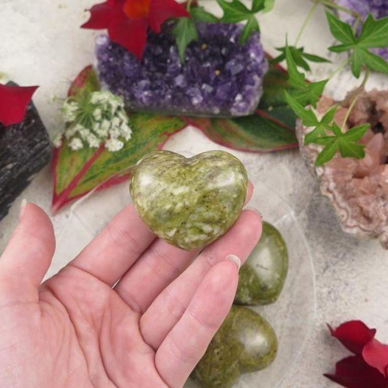 Epidote Puffy Heart