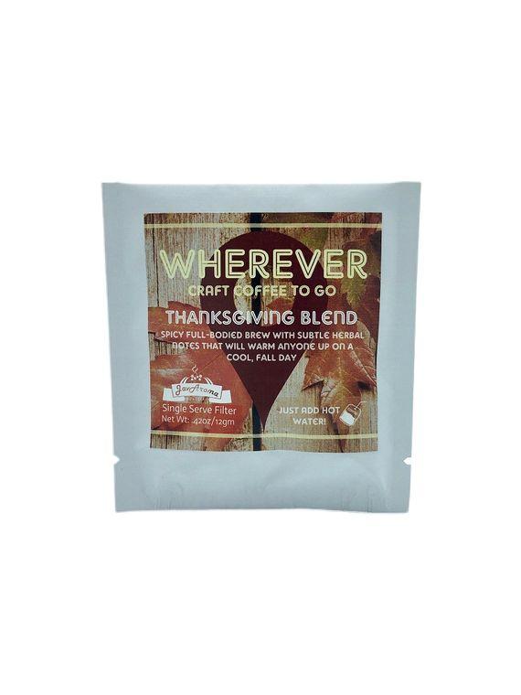 WHEREVER Single Serve Coffee (Thanksgiving Blend)