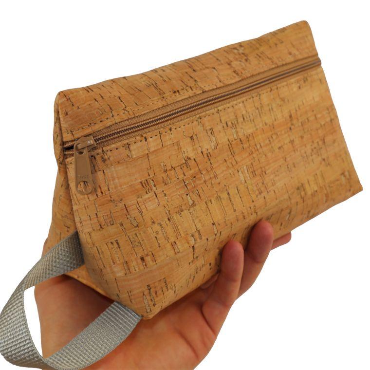 Men's / Women's Cork Zipper Pouch Toiletry Bag / Dopp Kit