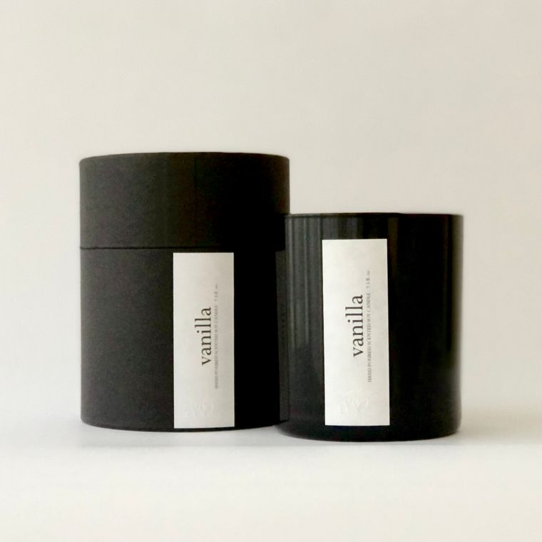Minimalist Scented Candles - Black Glass / Holiday Gift Box