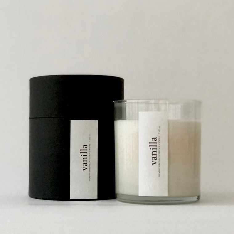 Minimalist Scented Candles - Clear Glass / Holiday Gift Box
