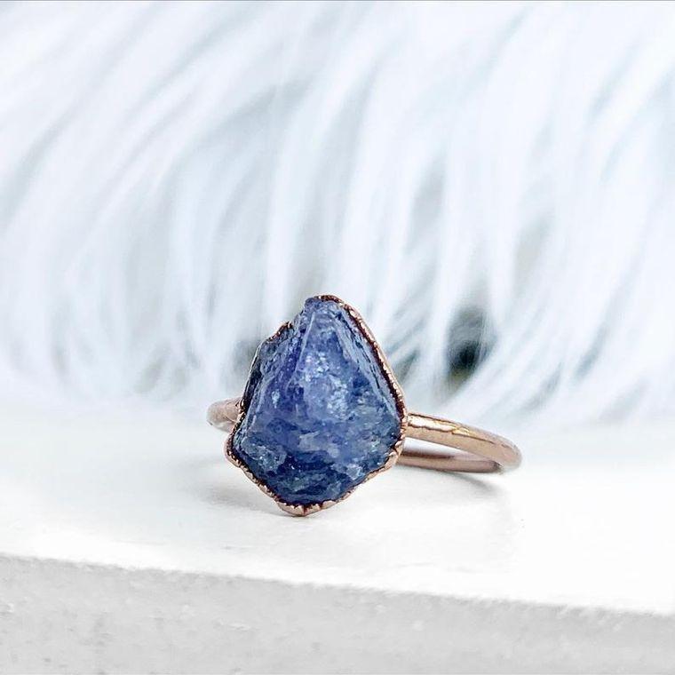 Raw Tanzanite Ring