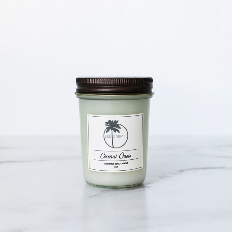 Coconut Oasis 8oz Candle