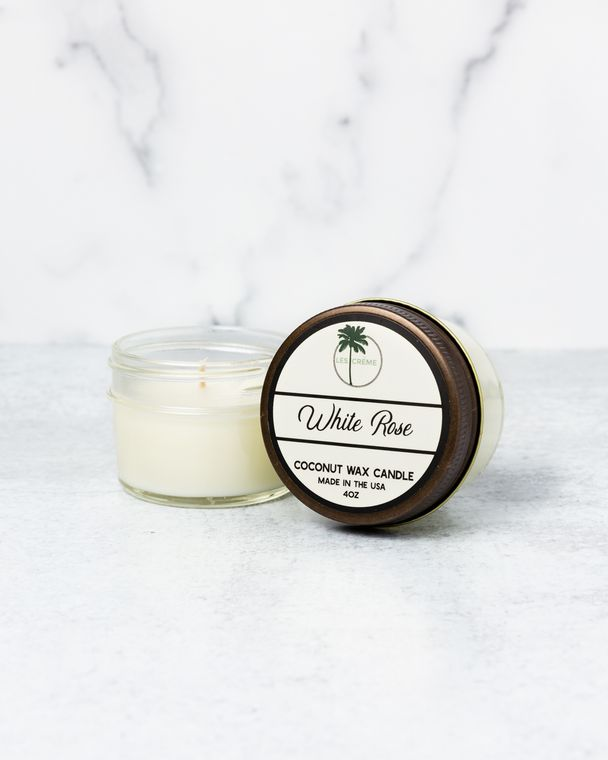 White Rose 4oz Candle