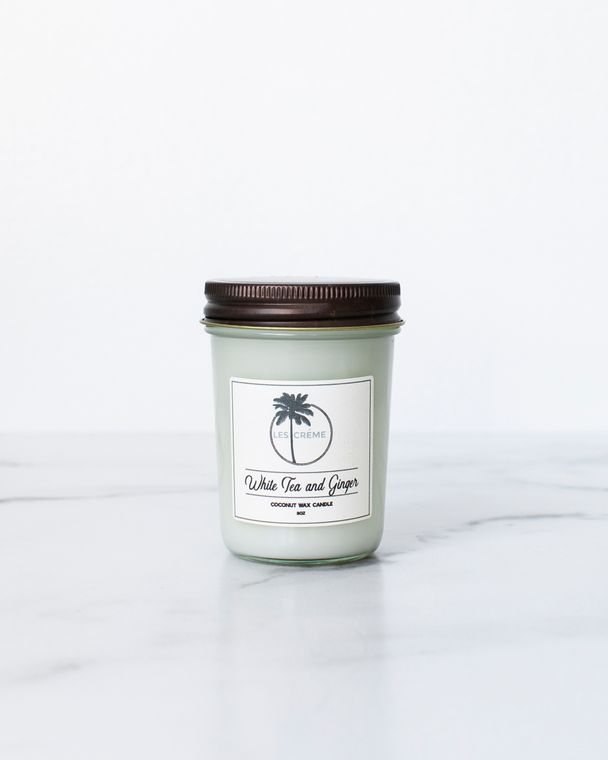 White Tea + Ginger 8oz Candle