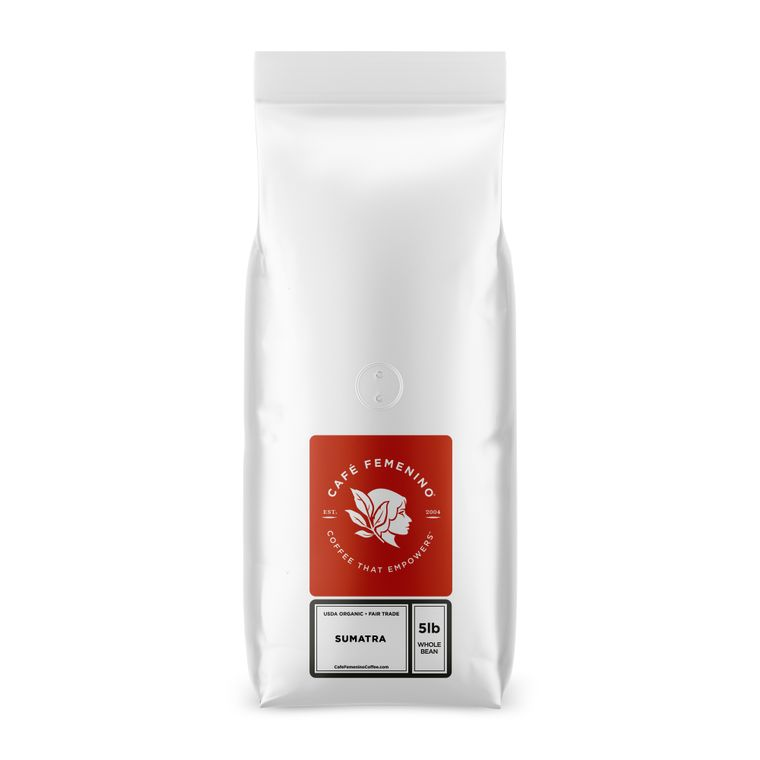 Organic Fair Trade Sumatra Whole Bean Bulk Coffee