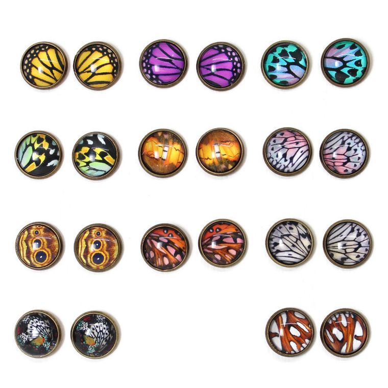 Butterfly Dome Earring 12 Pack