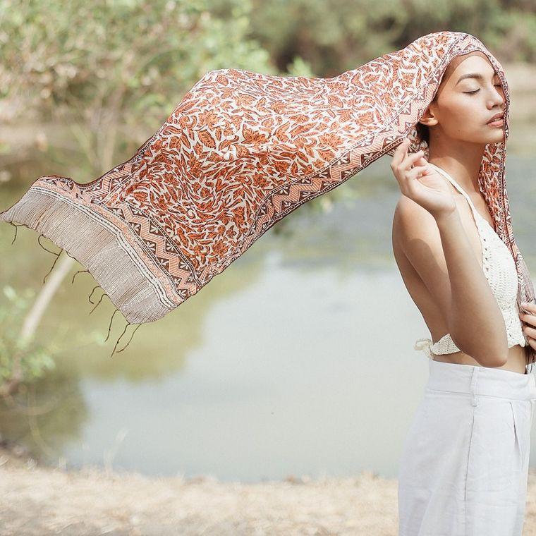 Melati Silk Batik Scarf (1-3 days)
