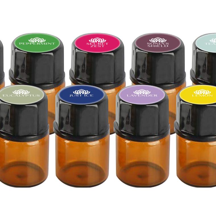 Organic 100% Pure Essential Oil Blends + Singles Sample Kit