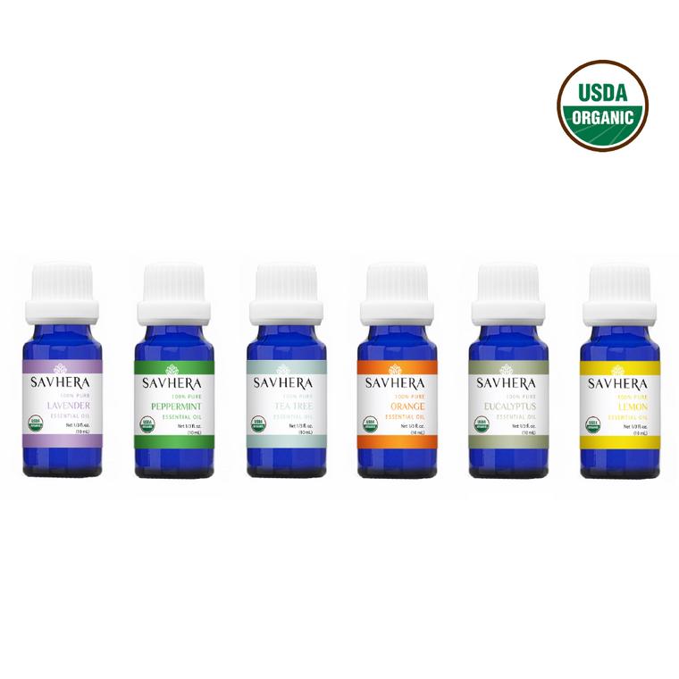 Organic 100% Pure Single Essential Oil Starter Kit