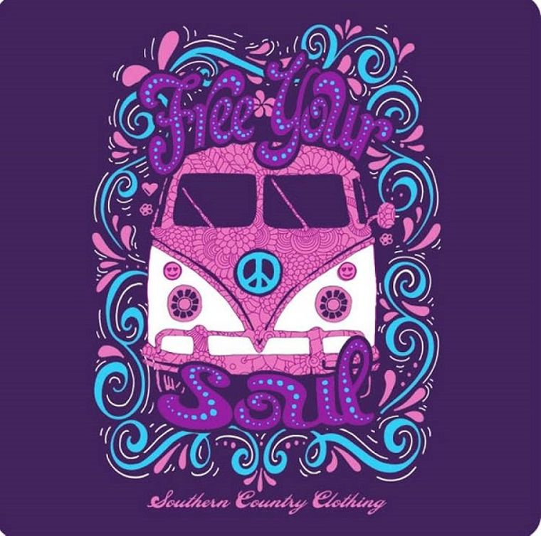Free Your Soul Peace Van T-shirt