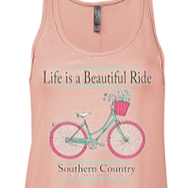 Life is Beautiful, Enjoy the Ride Ladies Tank Top
