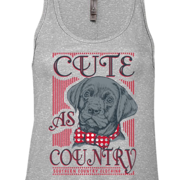 Cute As Country Ladies Tank Top