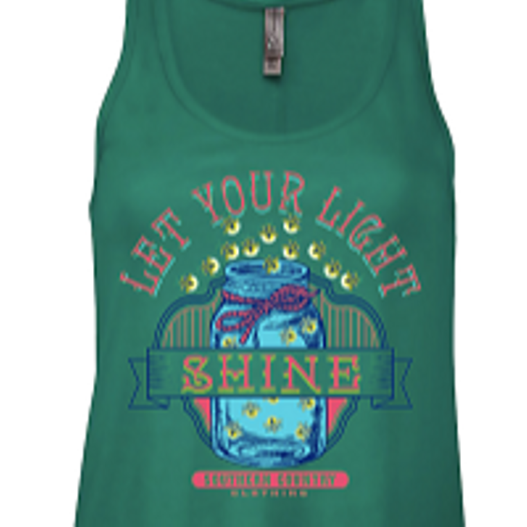 Let Your Light Shine Ladies Tank Top