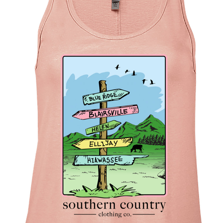 Northern Georgia Signs Ladies Tank Top