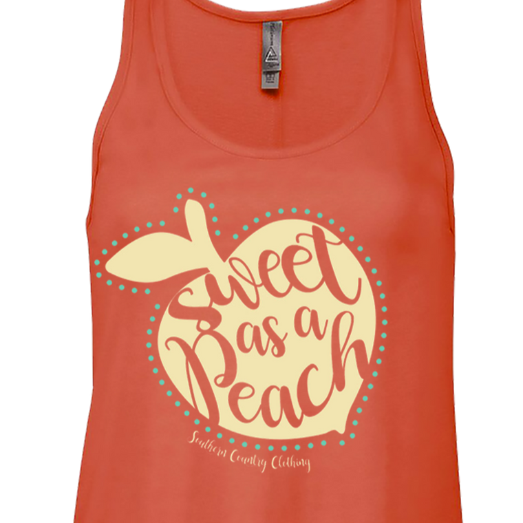 Sweet as a Peach Ladies Tank Top