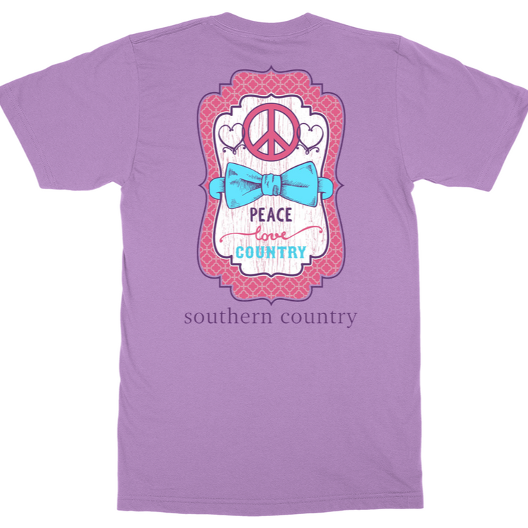 Peace Love Country Adult T-shirt