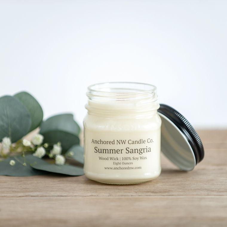 Mason Jar Soy Candle - Summer Sangria (8 oz.)