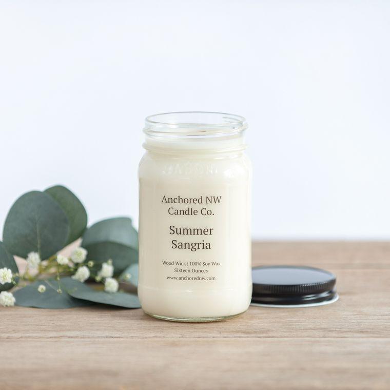 Mason Jar Soy Candle - Summer Sangria (16 oz.)