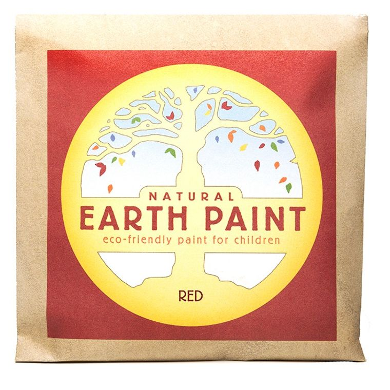 Red - Natural Earth Paint Individual Packet (makes 16 oz)