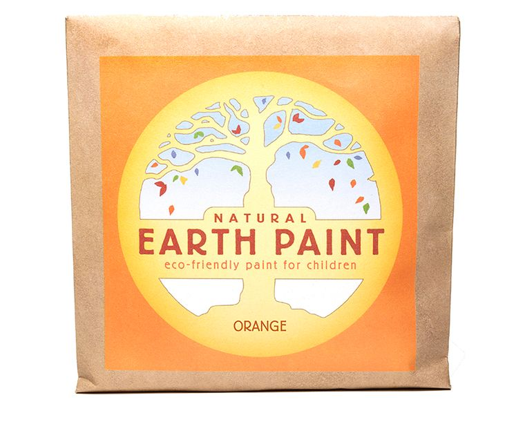 Orange - Natural Earth Paint Individual Packet (makes 16 oz)