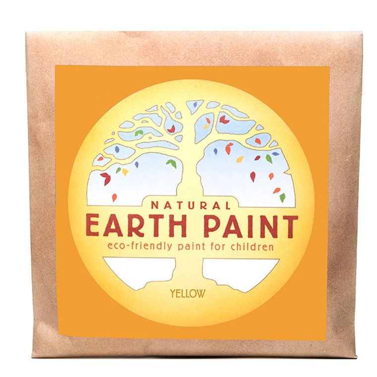 Yellow - Natural Earth Paint Individual Packet (makes 16 oz)