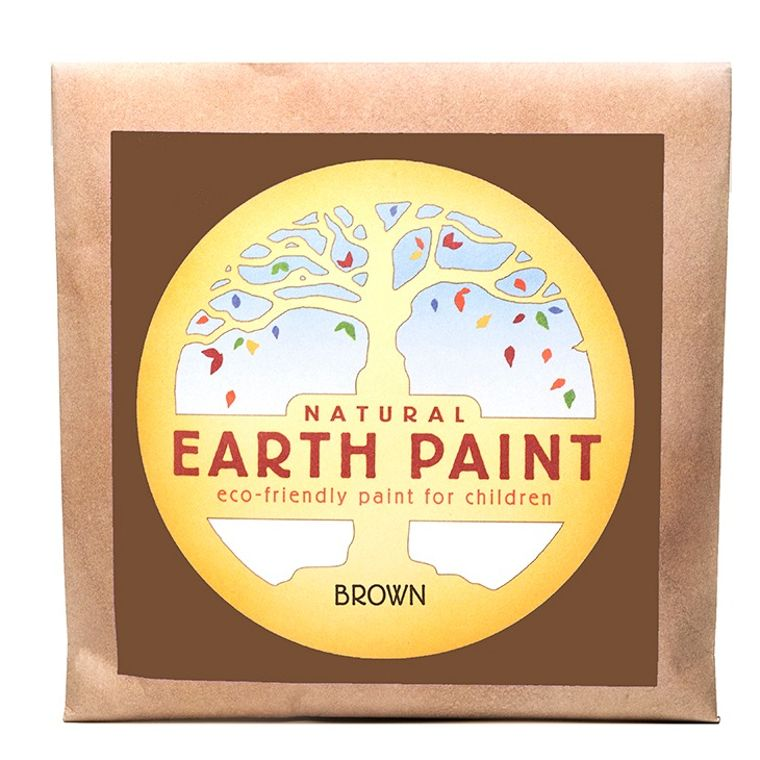 Brown - Natural Earth Paint Individual Packet (makes 16 oz)
