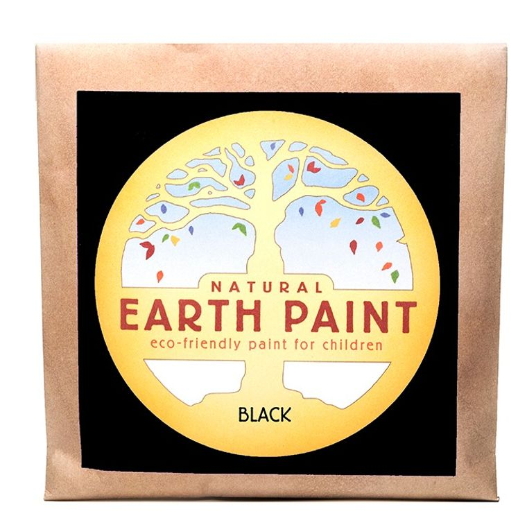 Black - Natural Earth Paint Individual Packet (makes 16 oz)