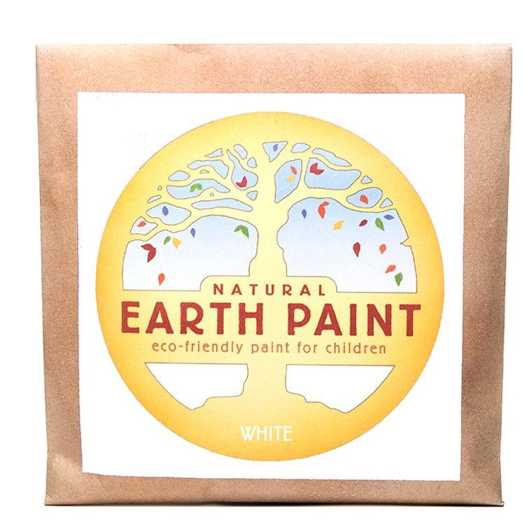 White - Natural Earth Paint Individual Packet (makes 16 oz)